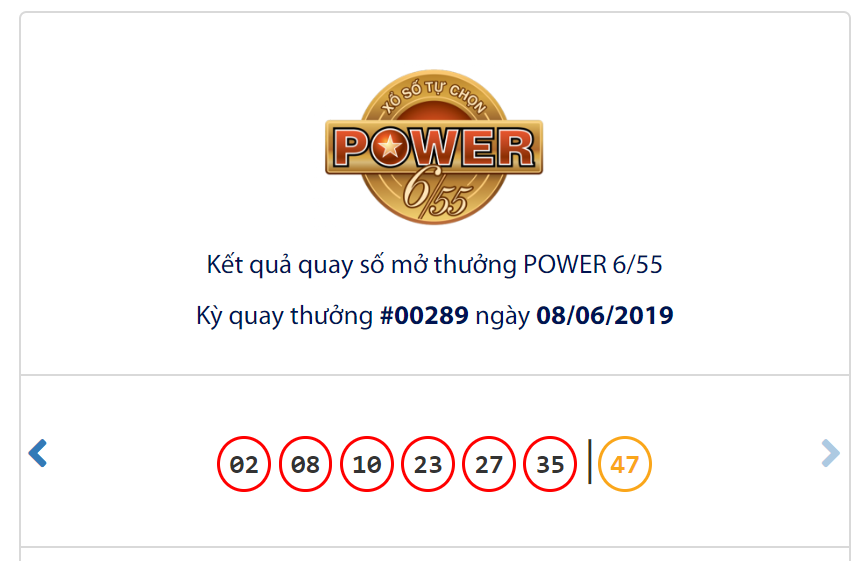 Kết quả Vietlott Power 6/55 ngày 8/6: Vẫn chưa thể nổ dù jackpot 1 cán mốc hơn 62,4 tỉ đồng - Ảnh 1.