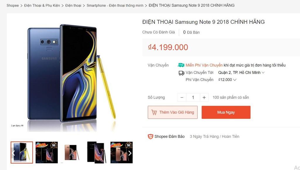 Galaxy Note 9, iPhone giá chưa đến 3 triệu tràn lan trên Lazada, Shopee - Ảnh 2.