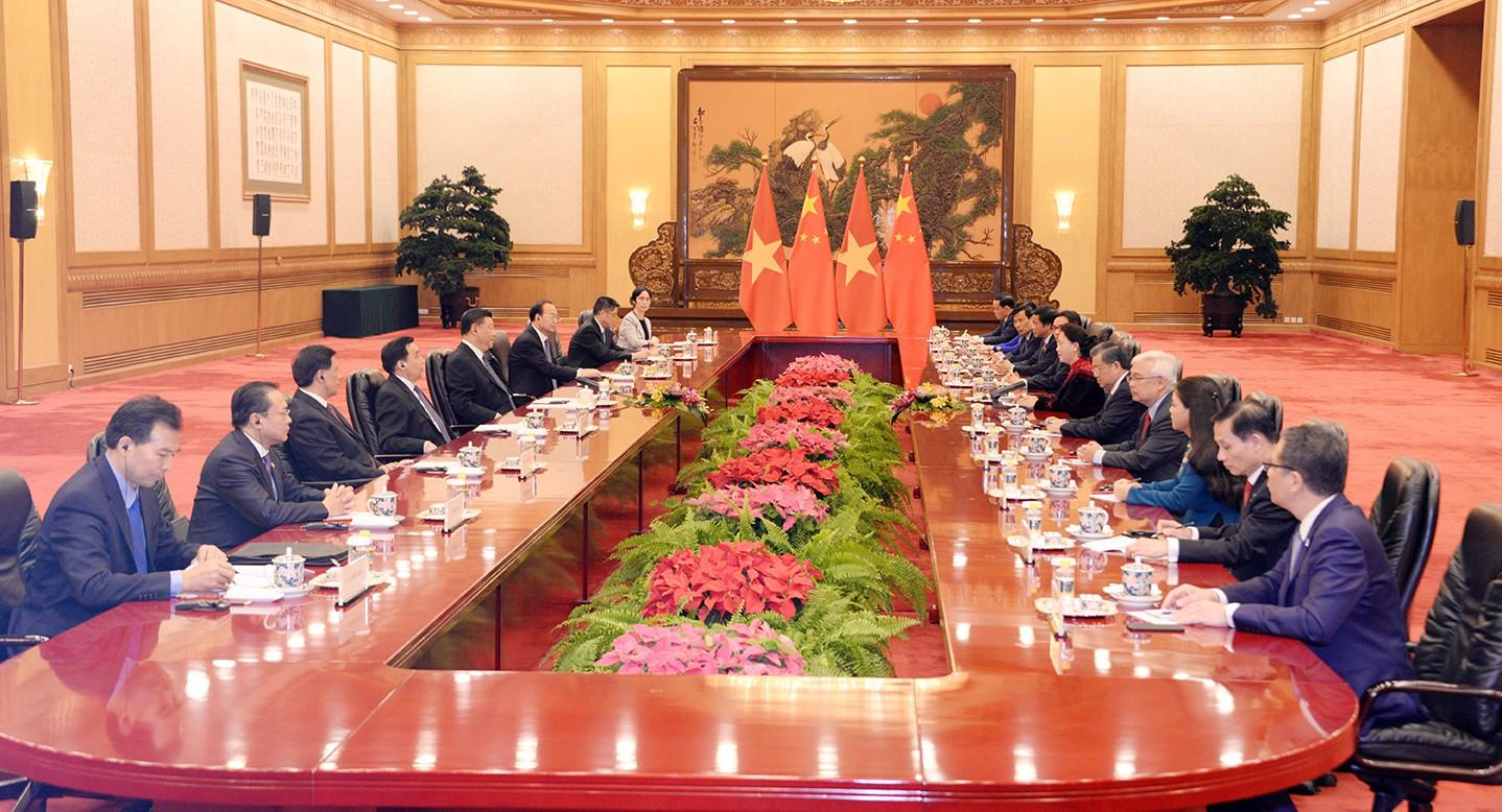 Chủ tịch Quốc hội hội kiến Tổng Bí thư, Chủ tịch Trung Quốc Tập Cận Bình - Ảnh 2.