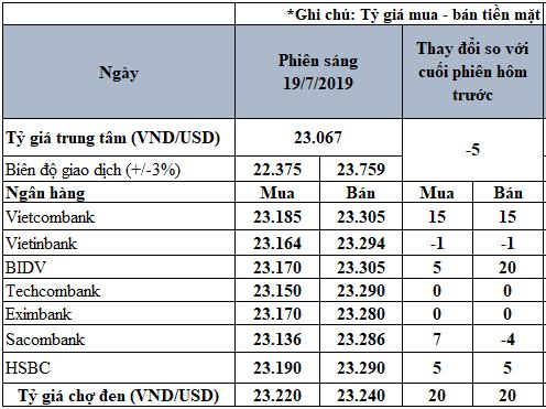 Tỷ giá USD hôm nay 19/7: Tỷ giá USD 'chợ đen' tăng 20 đồng - Ảnh 2.