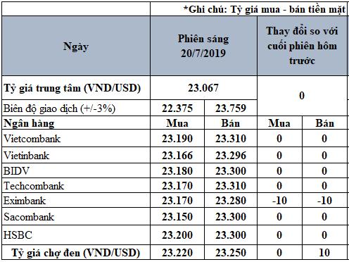 Tỷ giá USD hôm nay 20/7: Tỷ giá trung tâm tăng 8 đồng trong tuần qua - Ảnh 3.