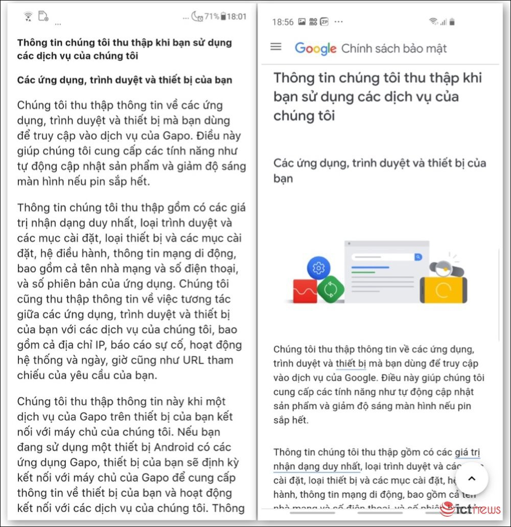 Nghi vấn mạng xã hội Gapo sao chép chính sách bảo mật của Google không sai một chữ - Ảnh 4.