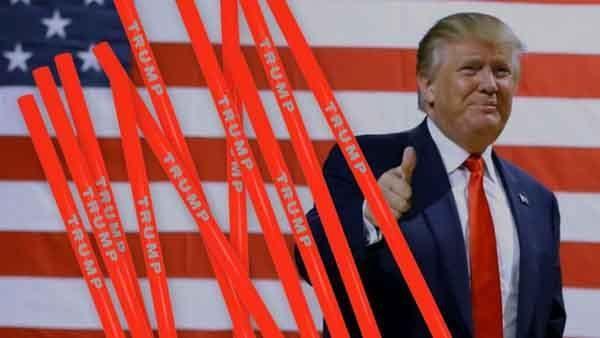 Ông Trump thu gần 500.000 USD nhờ bán ống hút mang tên mình - Ảnh 1.