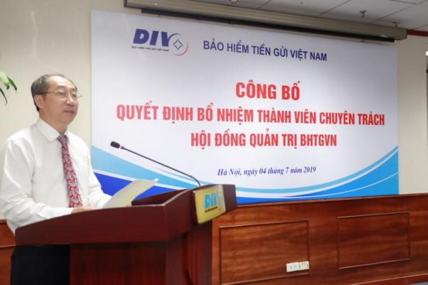Bảo hiểm tiền gửi Việt Nam bổ nhiệm thành viên chuyên trách HĐQT - Ảnh 1.