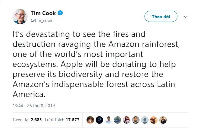 CEO Tim Cook quyên góp từ thiện 5 triệu USD bằng cổ phiếu Apple - Ảnh 2.