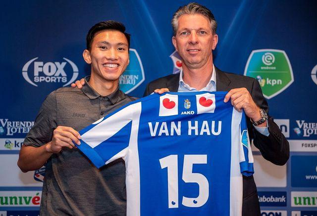 CLB Heerenveen được một công ty Việt Nam hỗ trợ trả lương cho Văn Hậu - Ảnh 1.