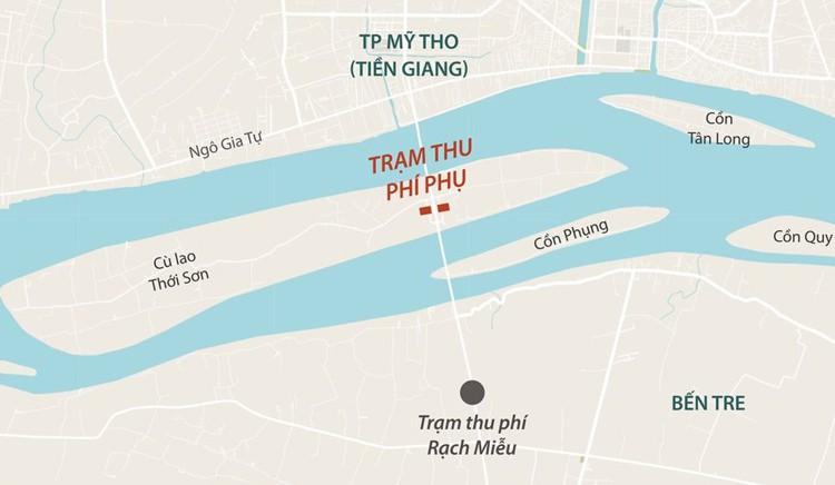 Tiền Giang xin bỏ trạm thu phí phụ cầu Rạch Miễu - Ảnh 3.