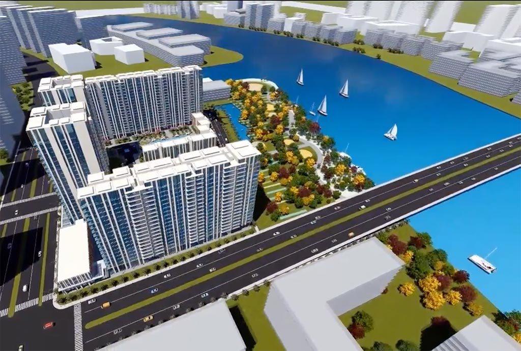 Phối cảnh dự án Thủ Thiêm River Park.