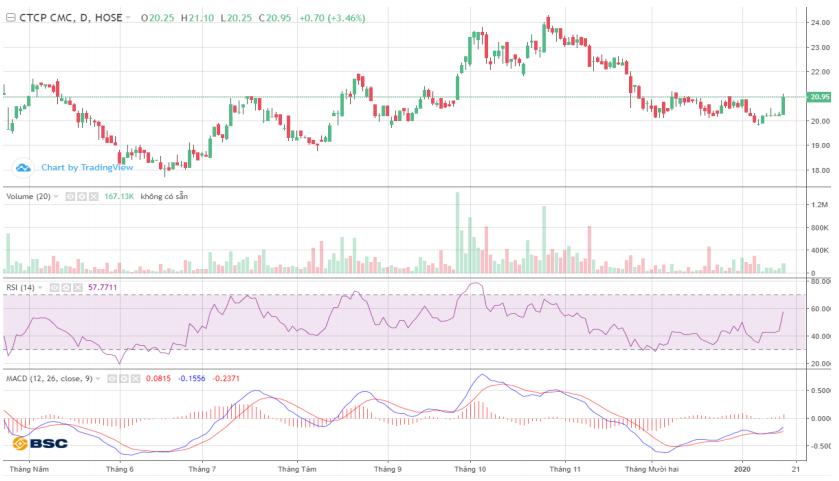 Cổ phiếu tâm điểm ngày 17/1: CVT, HSG, TDH - Ảnh 1.