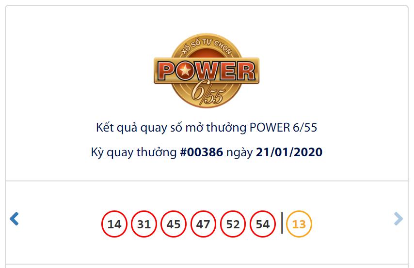 Kết quả Vietlott Power 6/55 ngày 21/1: Jackpot 2 hơn 6 tỉ đồng có chủ vào những ngày cận Tết - Ảnh 1.