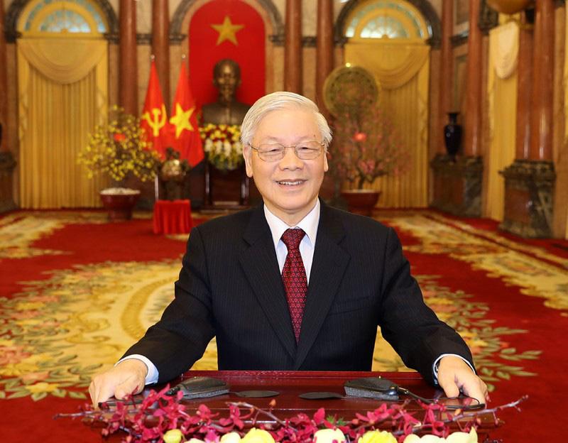 Tổng Bí thư, Chủ tịch nước Nguyễn Phú Trọng chúc Tết Canh Tý 2020 - Ảnh 1.