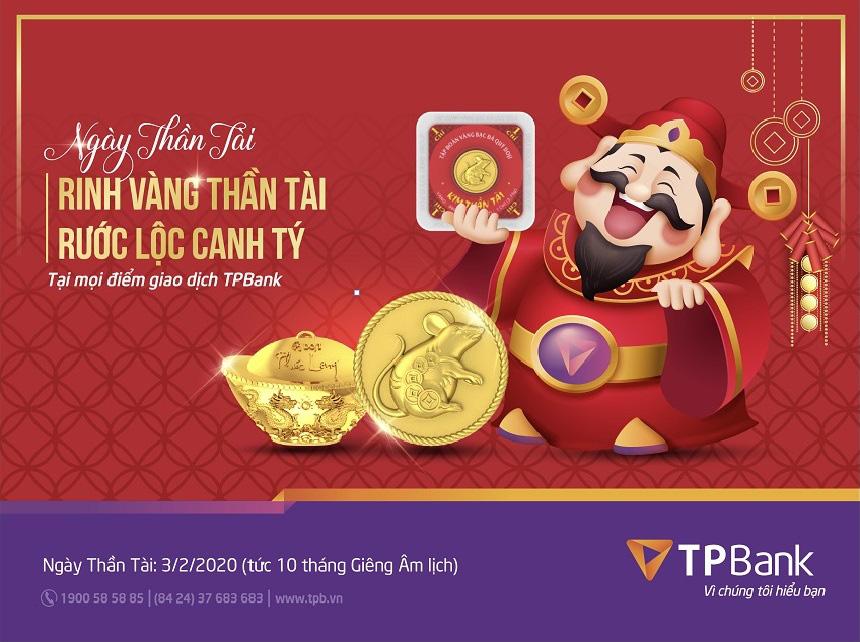 Vàng Kim Tý TPBank đắt khách trong ngày vàng thần tài - Ảnh 1.