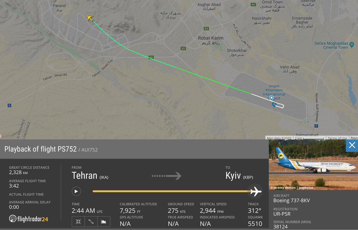Máy bay Boeing 737 chở 180 người gặp nạn tại Iran sau vài phút cất cánh - Ảnh 1.