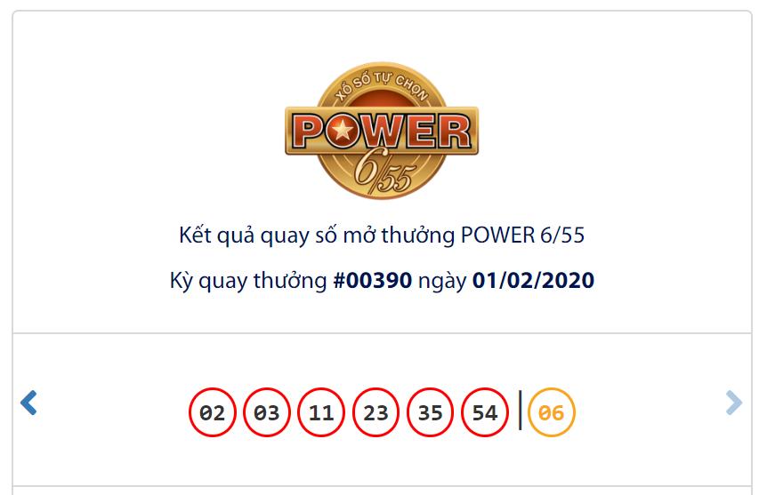 Kết quả Vietlott Power 6/55 ngày 1/2: Jackpot 1 chạm mốc gần 50 tỉ đồng vẫn vắng chủ - Ảnh 1.