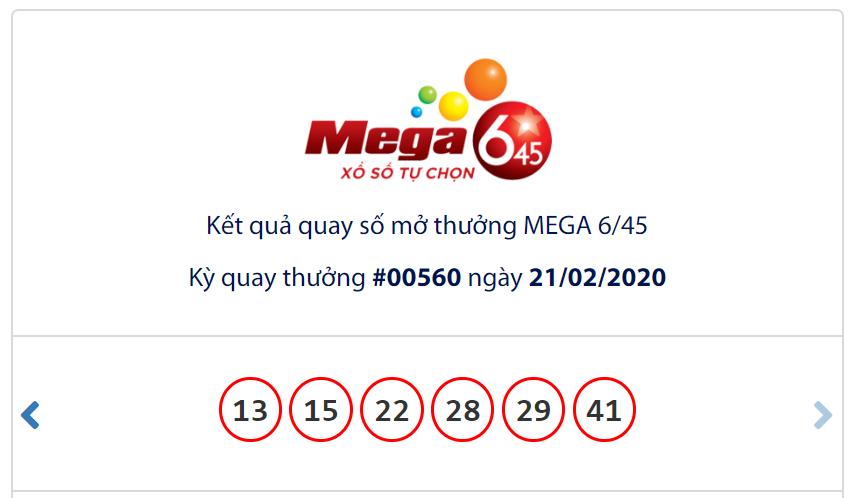 Kết quả Vietlott Mega 6/45 ngày 21/2: Jackpot chờ chủ nhân khi đạt hơn 24,5 tỉ đồng - Ảnh 1.