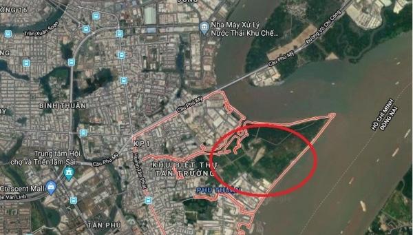 TP HCM điều chỉnh qui hoạch 1/2000 KDC phía Nam rạch Bà Bướm, quận 7 - Ảnh 1.