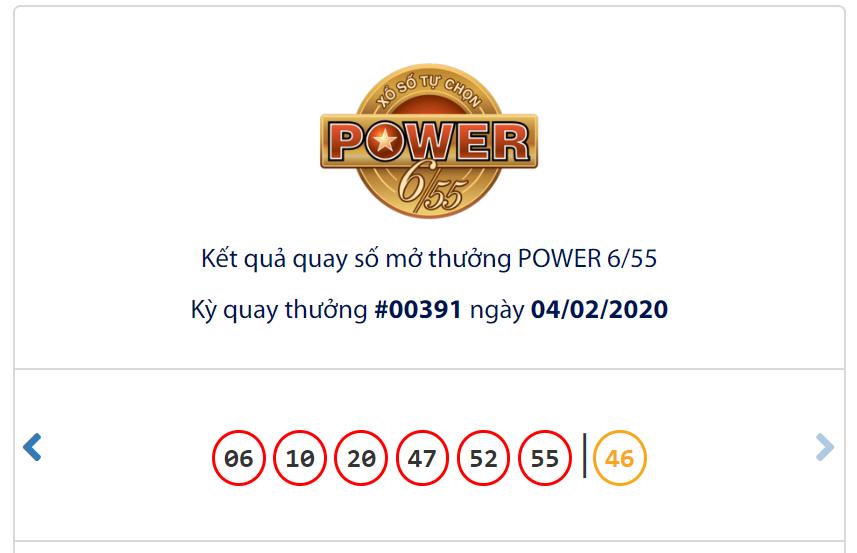 Kết quả Vietlott Power 6/55 ngày 4/2: Jackpot 1 cán mốc 52 tỉ đồng vẫn chưa có chủ - Ảnh 1.