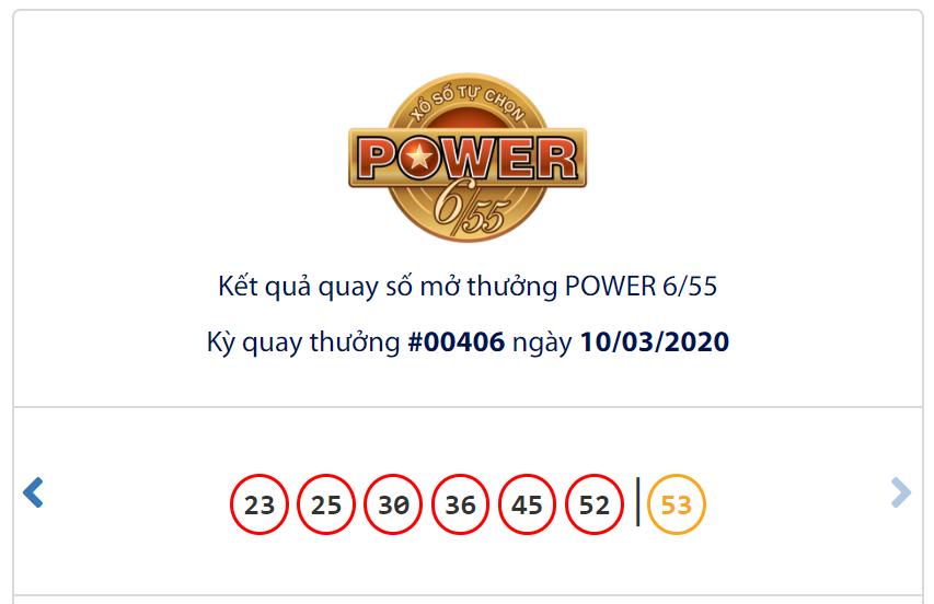Kết quả Vietlott Power 6/55 ngày 10/3: Jackpot 1gần 90 tỉ đồng vẫn thiếu chủ - Ảnh 1.
