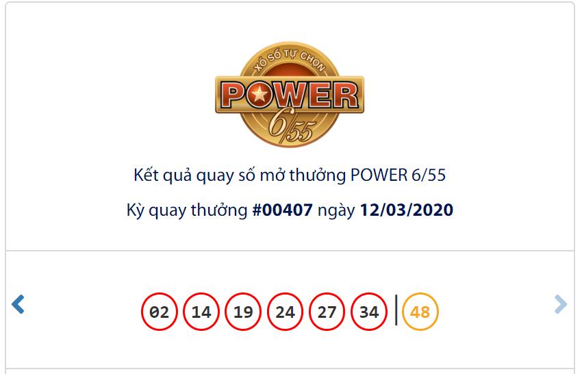 Kết quả Vietlott Power 6/55 ngày 12/3 Jackpot 1 trị giá hơn 93,8 tỉ đồng vẫn chưa có chủ nhân - Ảnh 1.
