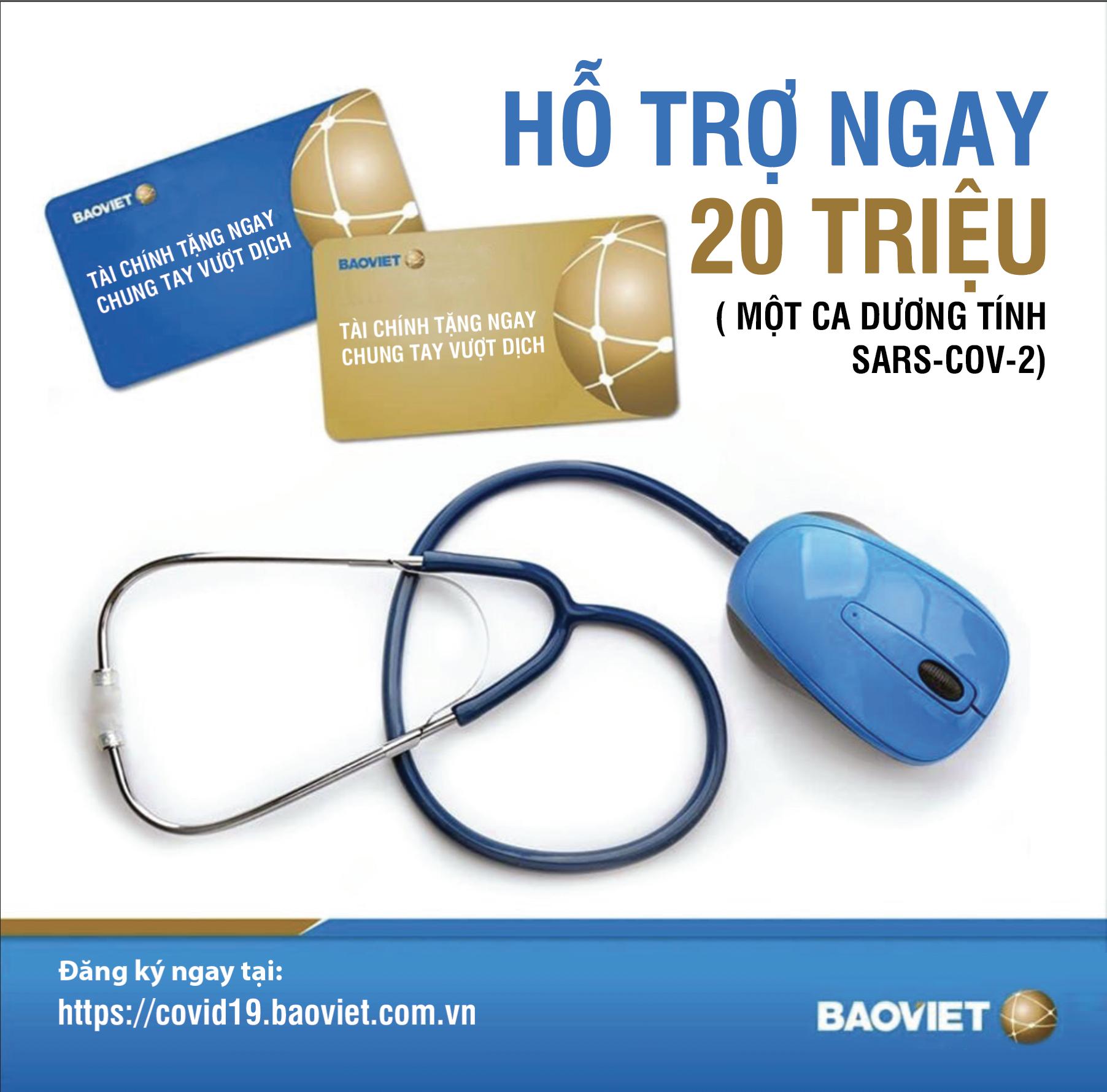 Bảo Việt: Đăng kí miễn phí, sẽ được hỗ trợ 20 triệu đồng nếu không may nhiễm SARS-CoV-2 - Ảnh 2.