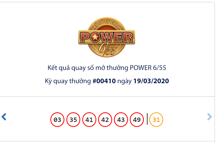 Kết quả Vietlott Power 6/55 ngày 19/3: Jackpot 1 đạt gái trị 'khủng' hơn 110,4 tỉ vẫn chưa ai trúng - Ảnh 1.