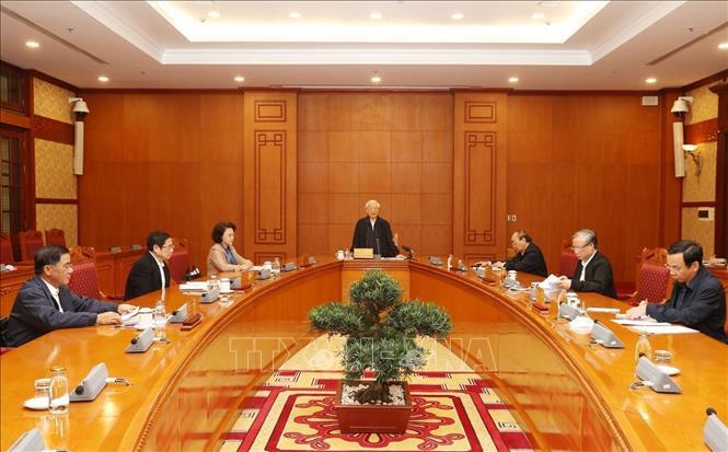 Tổng Bí thư, Chủ tịch nước chủ trì họp Tiểu ban Nhân sự Đại hội XIII của Đảng - Ảnh 2.