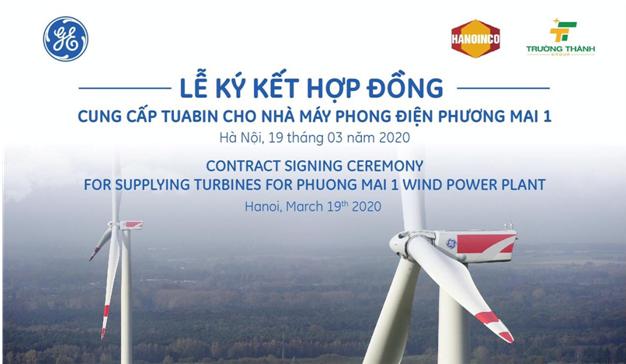 General Electric tổ chức lễ kí kết hợp đồng cung cấp tuabin gió cho Nhà máy Phong điện Phương Mai 1 - Ảnh 1.