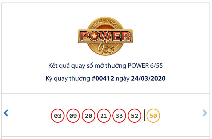 Kết quả Vietlott Power 6/55 ngày 24/3: Jackpot 1 treo thưởng hơn 123,6 tỉ đồng vẫn vô chủ - Ảnh 1.