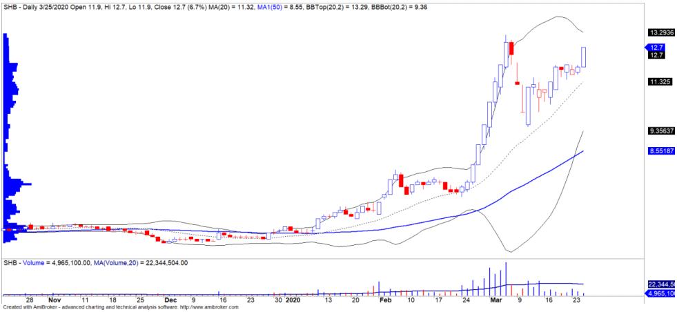 Cổ phiếu tâm điểm ngày 27/3: SHB, BVH, GAS - Ảnh 1.