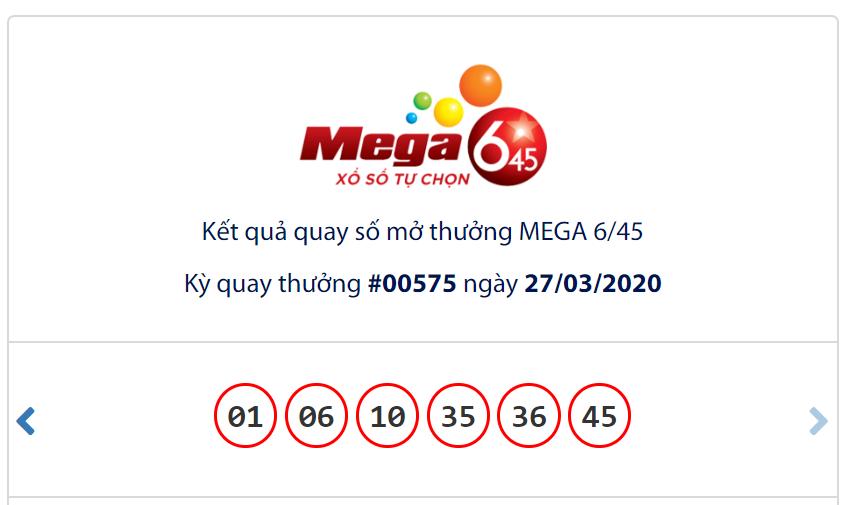Kết quả Vietlott Mega 6/45 ngày 27/3: Jackpot tái khởi động sau khi giải khủng 62,6 tỉ đồng đến tay chủ nhân - Ảnh 1.