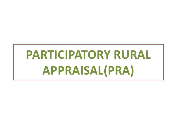 Đánh giá nông thôn có sự tham gia (Participatory Rural Appraisal - PRA) là gì? - Ảnh 1.