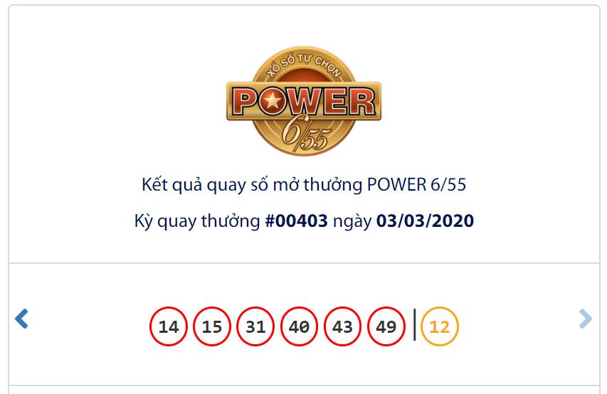 Kết quả Vietlott Power 6/55 ngày 3/3: Jackpot 2 gần 6 tỉ đồng chính thức có chủ - Ảnh 1.