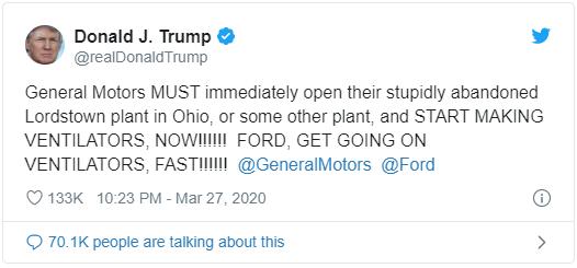Tổng thống Trump gây sức ép buộc sản xuất máy thở ngay lập tức, GM và Ford có thể đáp ứng đến đâu? - Ảnh 2.