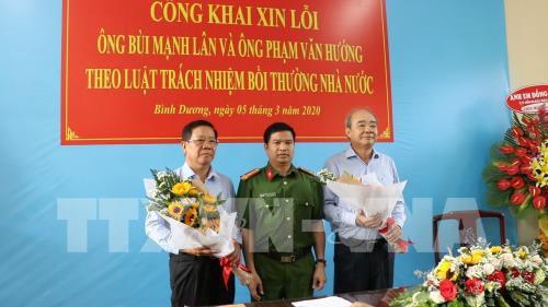 Bộ Công an công khai xin lỗi hai doanh nhân bị bắt giam trái pháp luật - Ảnh 1.