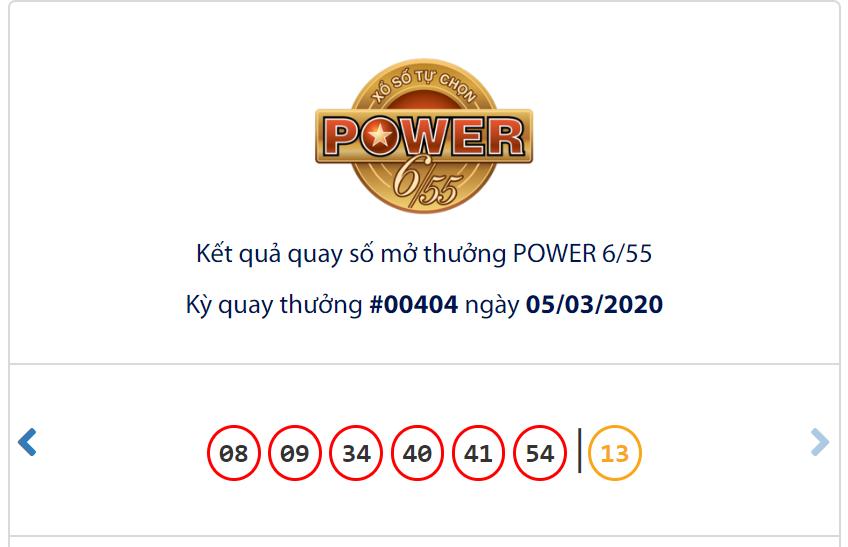 Kết quả Vietlott Power 6/55 ngày 5/3: Jackpot 2 đạt hơn 3,2 tỉ đồng tại kì tái khởi động - Ảnh 1.