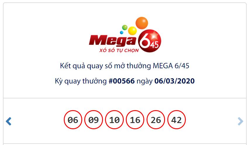 Kết quả Vietlott Mega 6/45 ngày 6/3: Tân chủ nhân chưa xuất hiện, jackpot đạt mốc hơn 42,6 tỉ đồng - Ảnh 1.