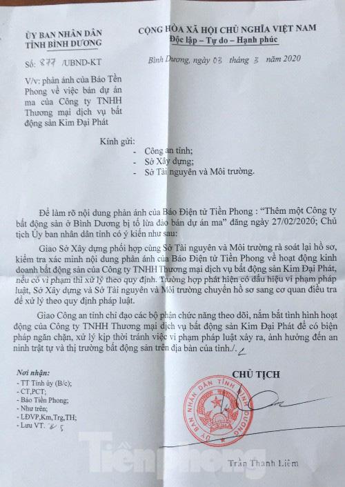 Chủ tịch Bình Dương chỉ đạo làm rõ vụ Cty Kim Đại Phát bị tố lừa đảo - Ảnh 1.