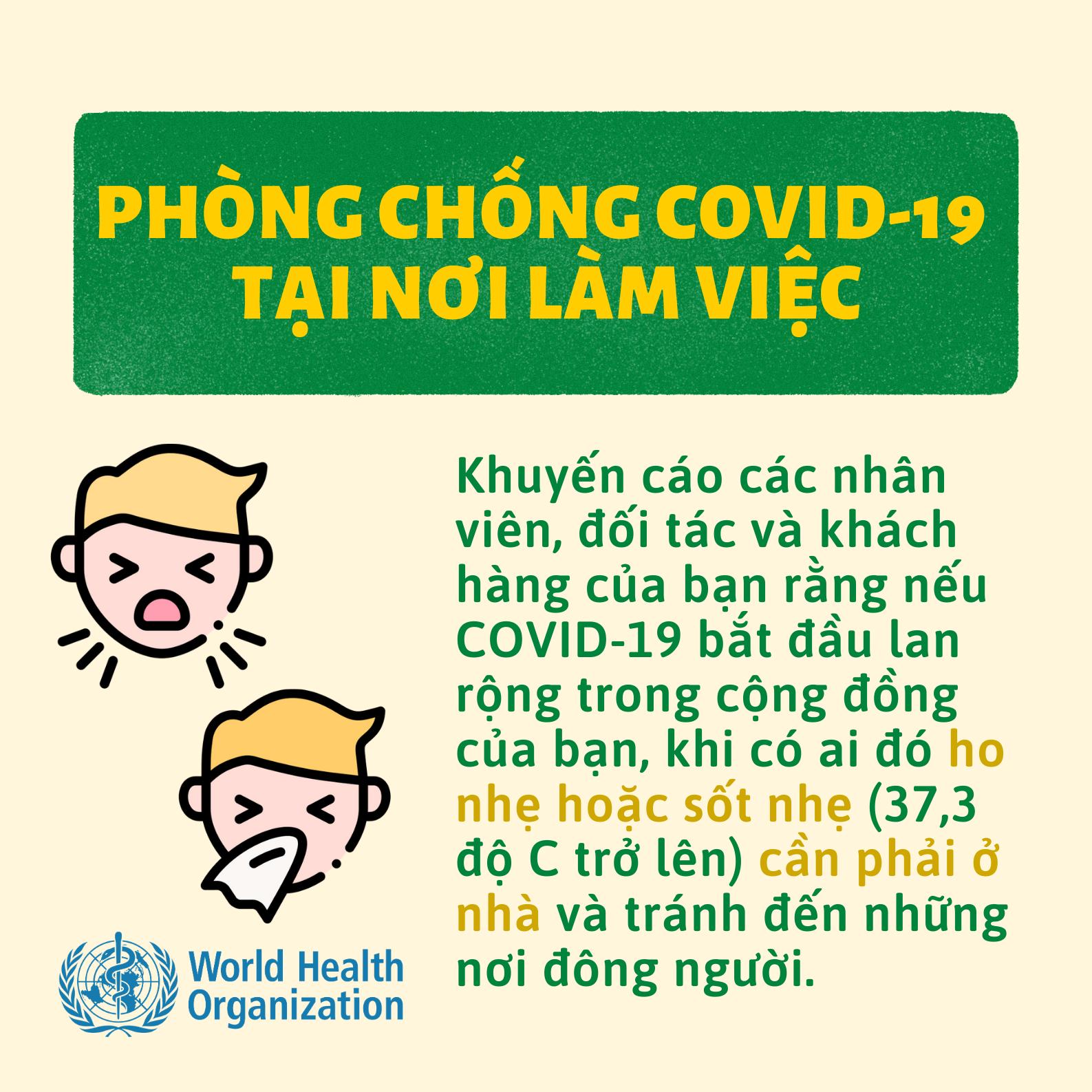 WHO khuyến cáo cách phòng chống COVID-19 tại nơi làm việc và khi tham dự hội nghị hoặc sự kiện - Ảnh 5.