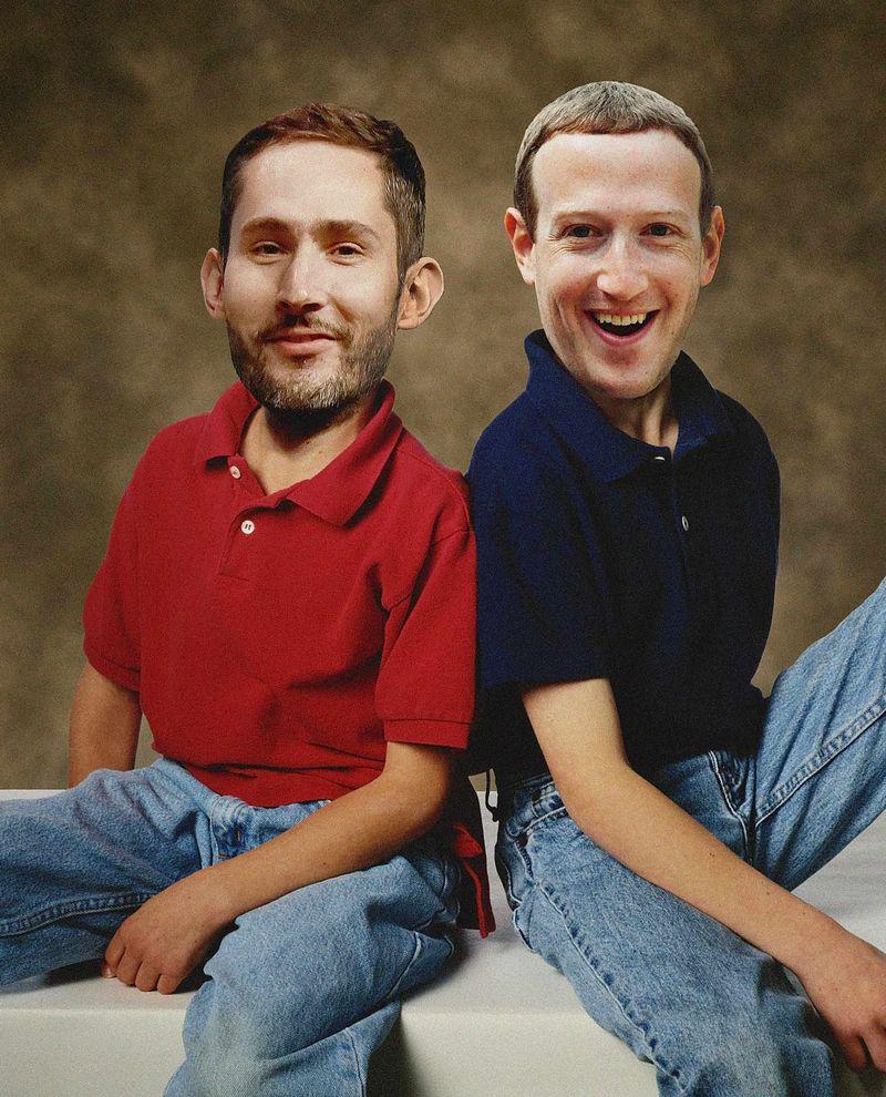Kevin Systrom, CEO Instagram (bên trái) và Mark Zuckerberg, CEO Facebook. (Ảnh: Getty)