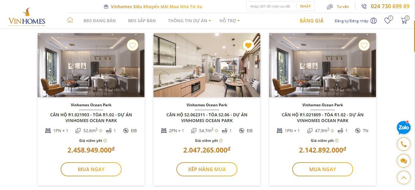 Vinhomes ra mắt nền tảng bán nhà trực tuyến - Ảnh 2.
