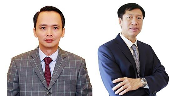 Ông Trịnh Văn Quyết (trái) và ông Nguyễn Thiện Phú (phải
